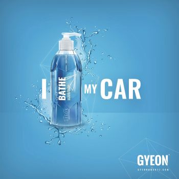 Gyeon Banner - I Bathe my car 100 x 100