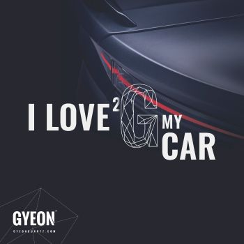 Gyeon Banner / I love 2 G my car / left side logo 100 x 100