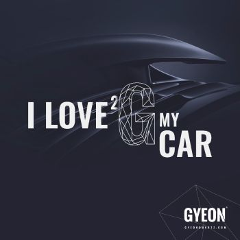 Gyeon Banner / I love 2 G my car / right side logo 100 x 100