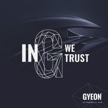 Gyeon Banner / In G we trust / right side logo 100 x 100