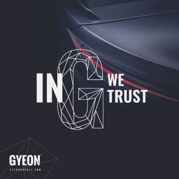 Gyeon Banner / In G we trust / left side logo 100 x 100