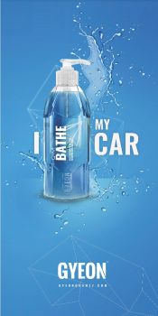 Gyeon Canvas banner stand / I Bathe my car 100 x 200