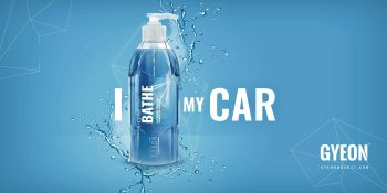 Gyeon Canvas Banner - I Bathe my car 200 x 100