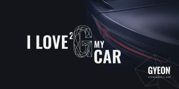 Gyeon Canvas banner / I love 2 G my car 200 x 100