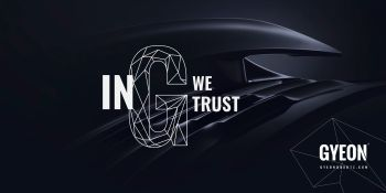Gyeon Canvas banner / In G we trust 200 x 100
