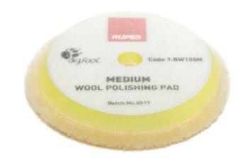 Rupes Yellow Medium Wool Polishing Pad - 150mm